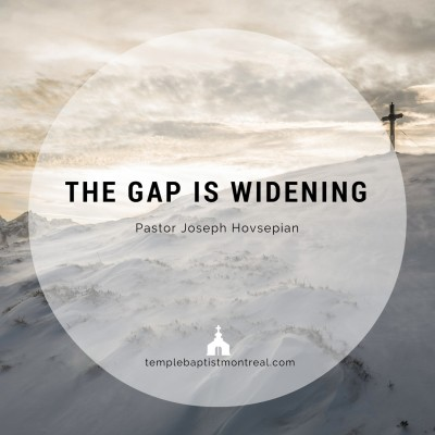 The Gap In Widening