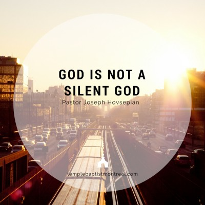 God Is Not a Silent God