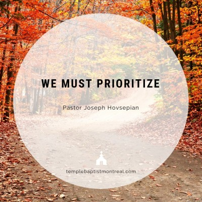 We Must Prioritize
