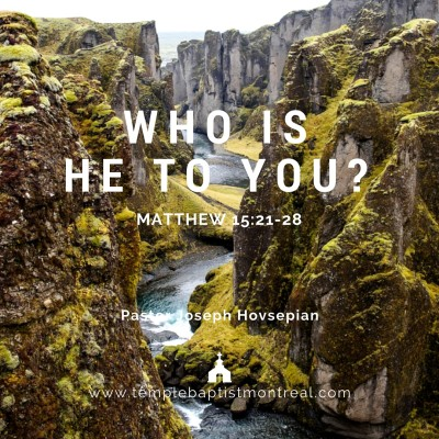 Who Is He to You?