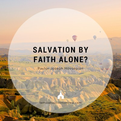 Salvation By Faith Alone?
