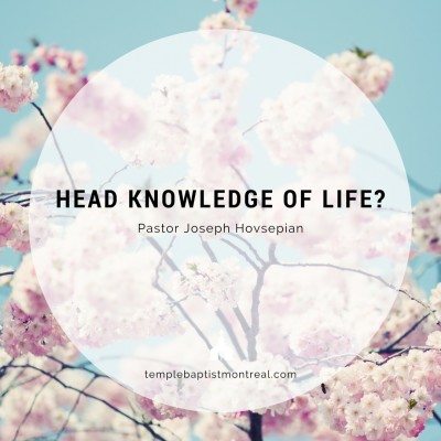 Head Knowledge of Life?