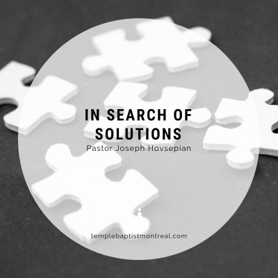 In Search of Solutions