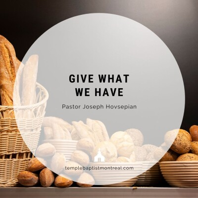 Give What We Have